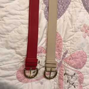 Two Coach leather belts sz M